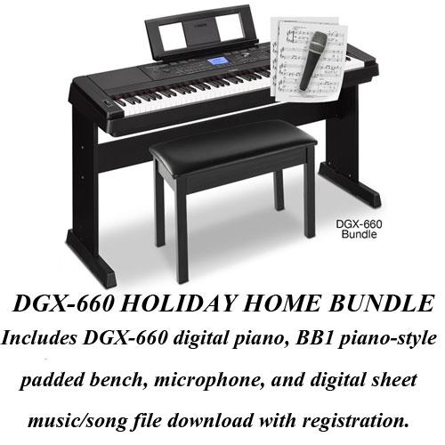 Rieman music inc for Yamaha dgx 660 bundle
