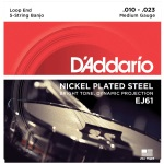 D'Addario EJ61 Nickel Banjo Strings (Medium, 10-23)