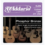 D'Addario EJ26 Phosphor Bronze Acoustic Guitar Strings (Custom Light, 11-52)