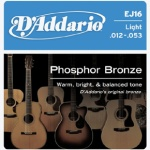 D'Addario EJ16 Phosphor Bronze Acoustic Guitar Strings (Light, 12-53)