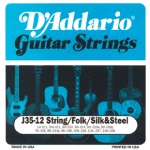 D'Addario J35 12-String Folk Silk and Steel Acoustic Guitar Strings