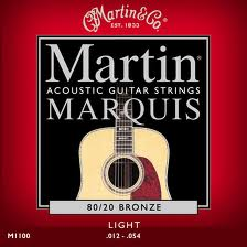 Martin M1100 Marquis 80/20 Bronze Light Acoustic Guitar Strings