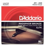 D'Addario EJ74 Phosphor Bronze Medium Mandolin Strings