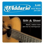 D'Addario EJ40 Nylon Silk & Steel Ball End Acoustic Folk Guitar Strings