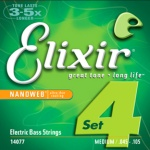 Elixir 14077 Medium Long Scale NanoWeb Electric Bass 4 String Set (45-105)